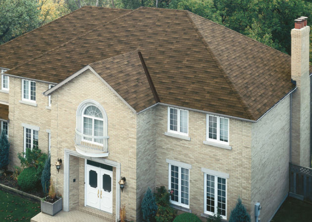 IKO Traditional Dual Brown 3 Tab Roofing Shingles In Connecticut